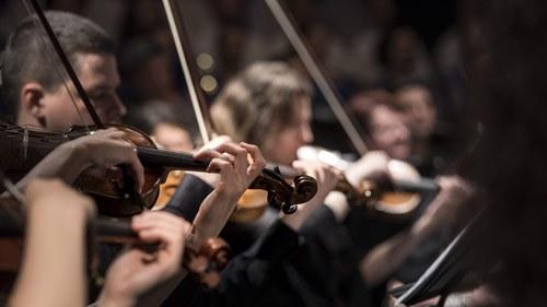 Die Orchesterakademie bietet talentierten Nachwuchsmusikerinnen und -musikern aus aller Welt die Möglichkeit, die Komplexität des Orchestermusikerberufs zu erlernen und zu erproben.