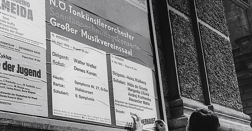 Konzertplakat am Musikverein Wien